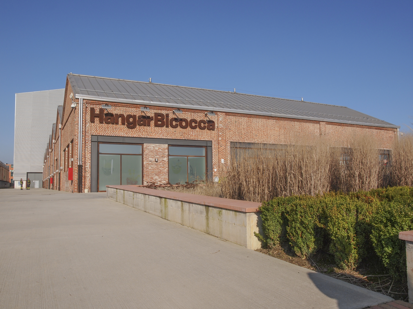 Milan, Italy - February 23, 2014: The Hangar Bicocca is a new exhibition room for contemporary art built in 2004 into an abandoned factory in a large regeneration area