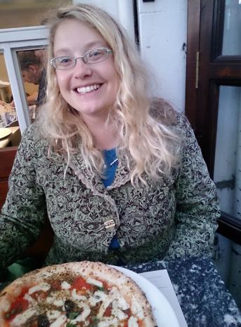 Hannah Bellis at Franco Manca pizza