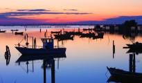 Sacca di Scardovari / Barche e casoni di pescatori