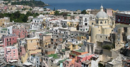 Beautiful Corricella on Procida was used as a setting for Il Postino