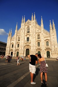Milan's imposing cathedral, Italy's finest example of gothic architecture