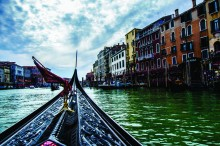 *View up from a Gondola on the Grand Canal