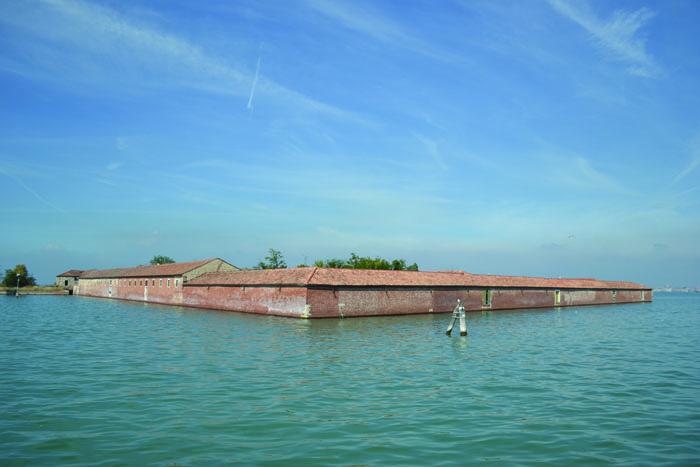 Lazzaretto Vecchio, hospital island turned Austro-Hungarian fortresses off the lagoon side of Lido