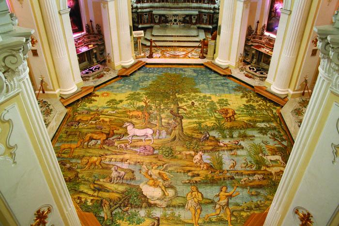 Floor of San Michele church, Anacapri