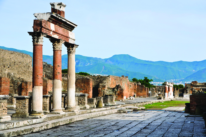 After being buiried by volacnic ash in 79AD. Pompeii was rediscovered and unearthed in the 19th century and gives a glimpse into Italian life 2000 years ago.