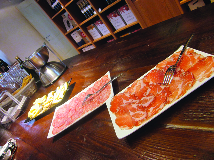 *Lamberti - local meats and cheeses to accompany wine