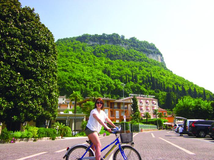 *cycling to garda from Bordelino
