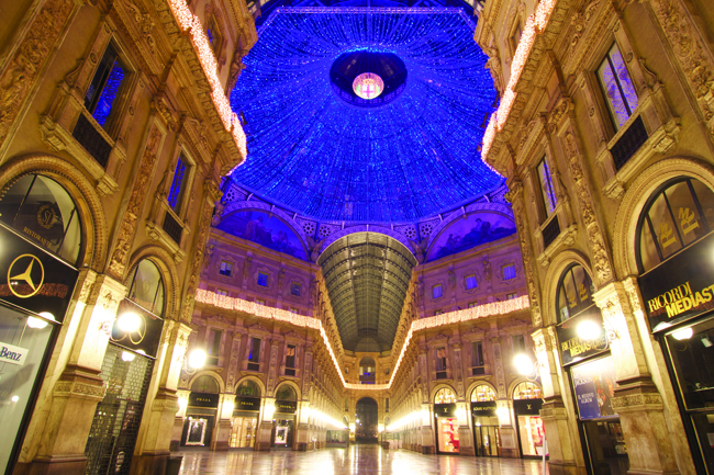 Inside the Galleria Vittorio Emanuele II