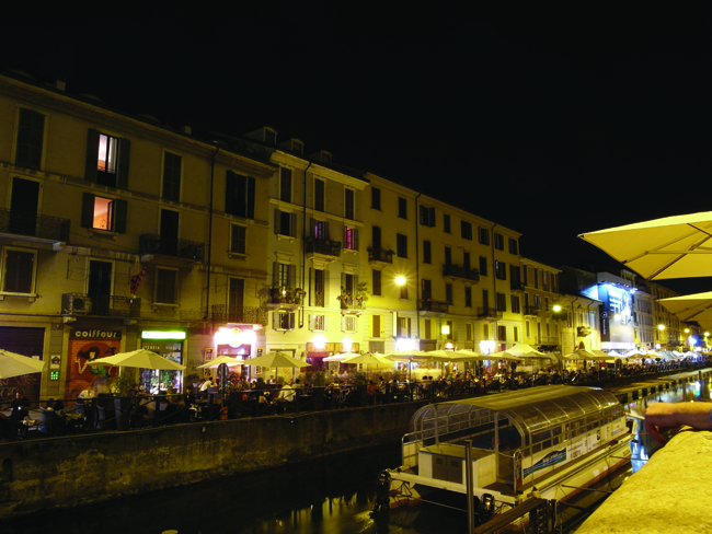 Naviglio at night