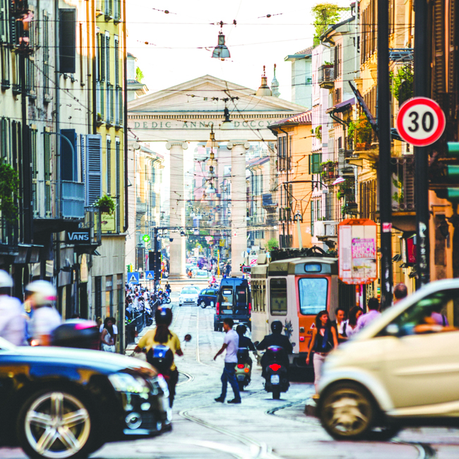 Busy Milan is Italy's second most popular city.