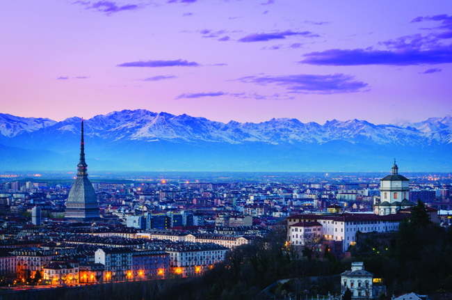 Sophisticated Turin affords access to the mountains and the coast.