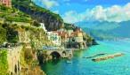 Beautiful bay and famous resort of Amalfi,Campania region,Italy,Europe