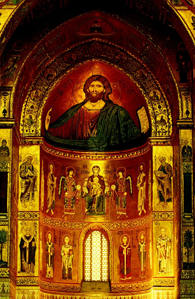 The apse of the cathedral, Monreale, Sicily, Italy
