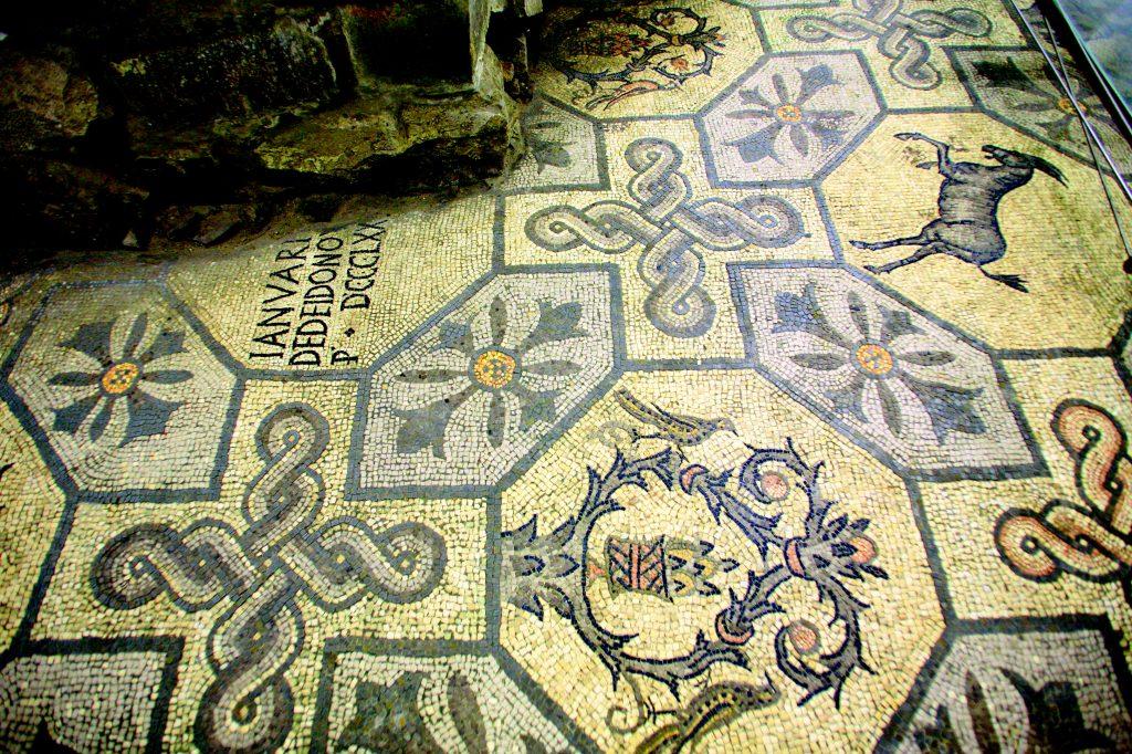 Mosaic floor, Basilica, Aquileia, Friuli Venezia Giulia, Italy