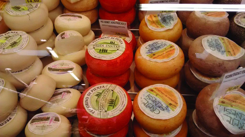 pecorino cheese; fresh, semi stagionato & staggionato with morcchia d'oliva