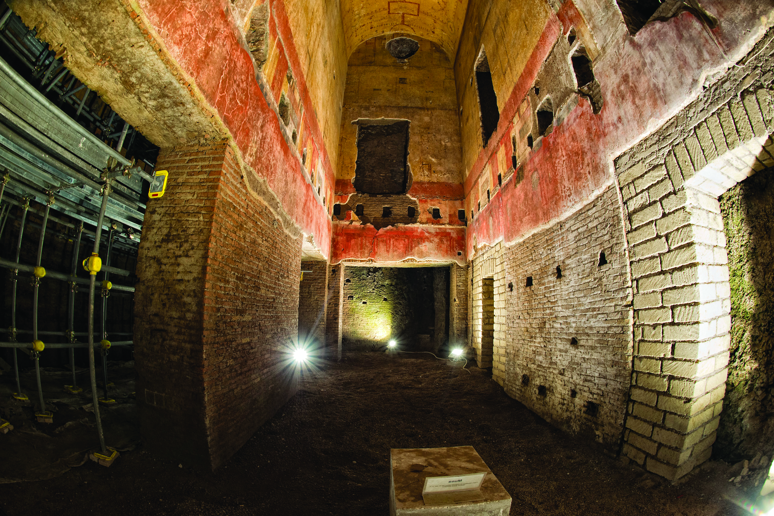 Domus Aurea exploring antique roman ruins being restored