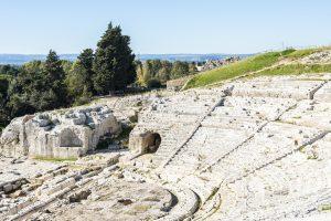 Syracuse's ancient amphitheatre, Sicily