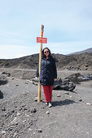 Francesca on Mount Etna