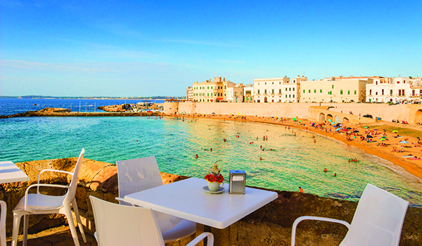 SUMMER.Salento coast: Gallipoli beach.Apulia (ITALY)