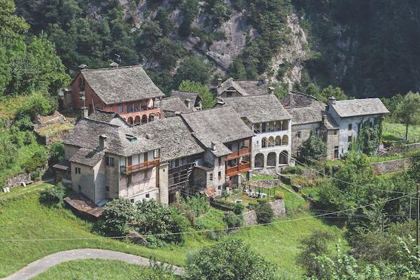 mountain village piedmont italy
