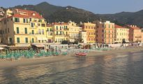 Alassio beachfront, Liguria