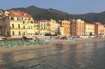 Alassio beachfront, Liguria