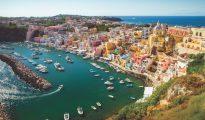 Beautiful View of Procida, Campania Italy