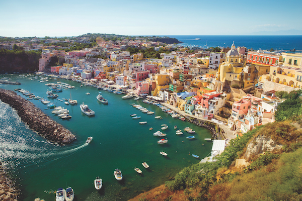 Beautiful View of Procida, Campania Italy