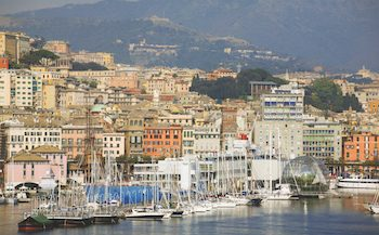 view to genoa, liguria, italy