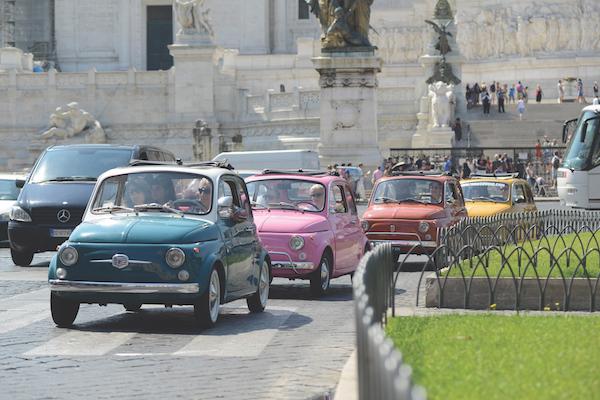 Fiat 500 tour Rome