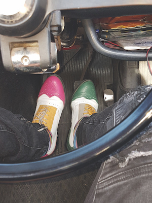 fiat 500 driving shoes