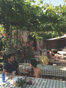 An Osmiza terrace in Friuli
