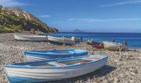 Fishing boats on Porticello Beach - Lipari Island, Aeolian Islands, Sicily, Italy