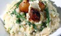 shallot, gorgonzola and rocket risotto