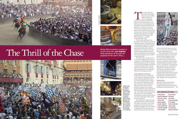 Italia magazine palio siena feature