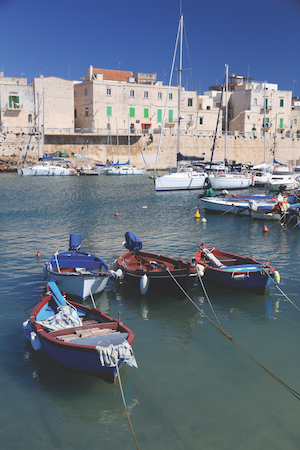 Fishing harbor in Italy - Giovinazzo town in Apulia.