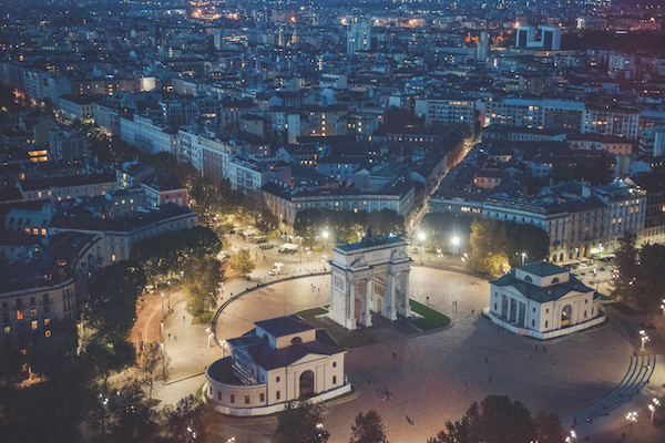 Milan, Italy by night