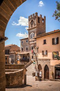 Palazzo Comunale tuscan historic building in Cortona town, Italy