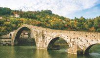 Bridge of Mary Magdalene near Borgo a Mozzano (Lucca), Italy