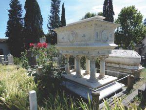 Elizabeth Barrett Browning's tomb Italy