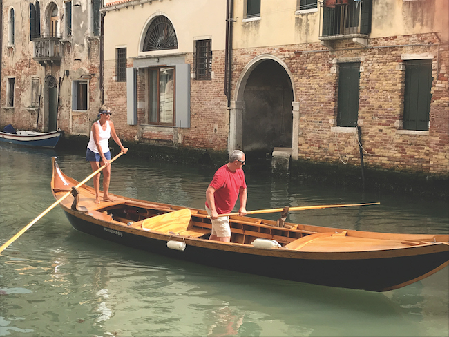 Venice rowing lesson Italy