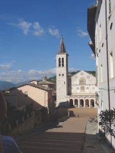 Piazza del Duomo and Cattedrale delle Santa Maria Assunta, Spoleto Italy
