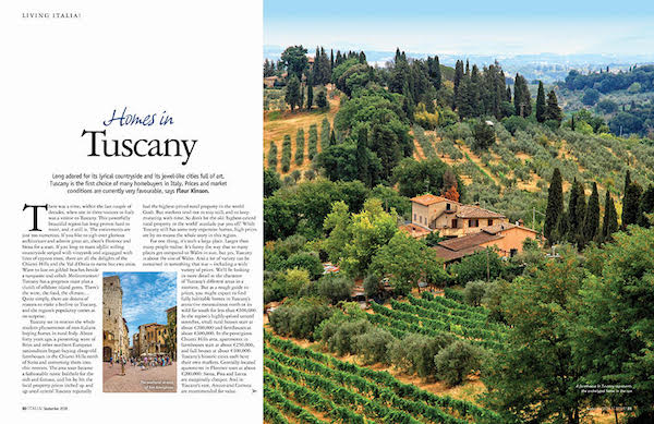 homes in Tuscany in issue 166 of Italia magazine