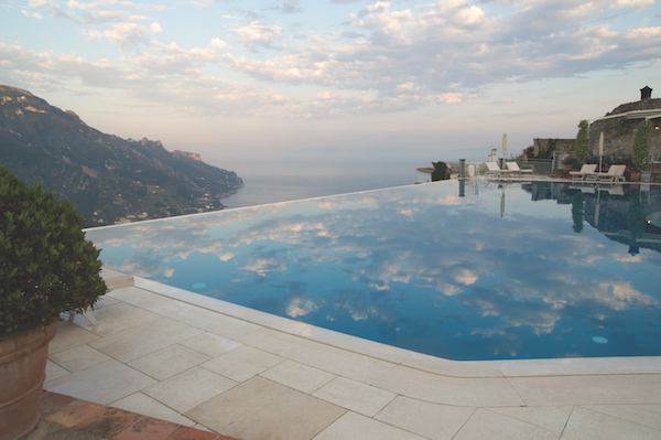 infinity pool hotel caruso italy