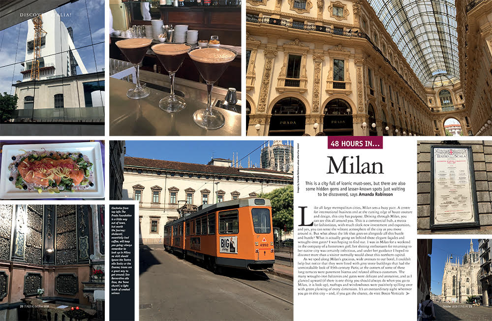 48 hours in Milan, Italia magazine