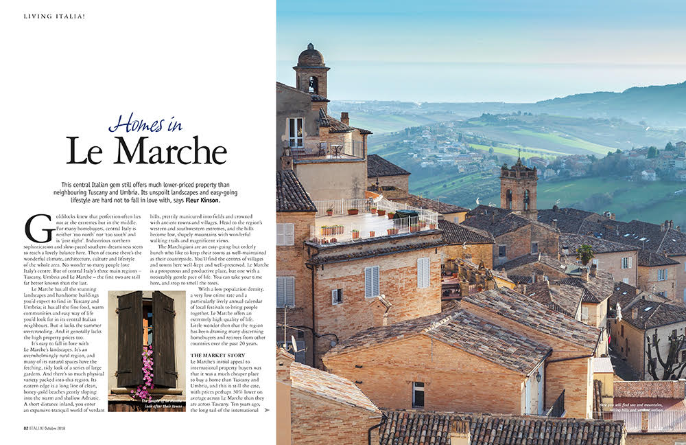 Homes in le marche Italia magazine new issue