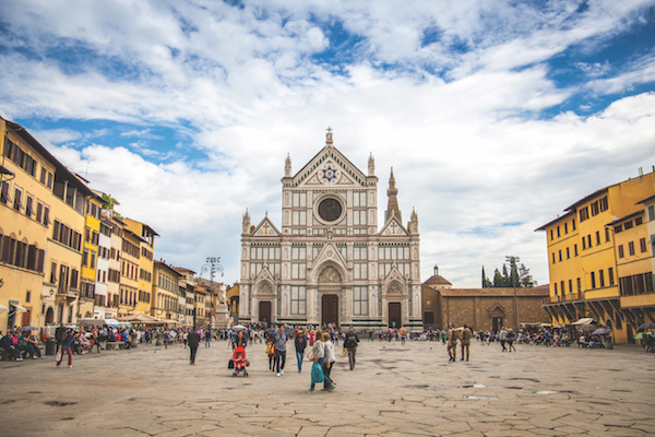 The Basilica di Santa Croce (Basilica of the Holy Cross) Florence, Italy, and a minor basilica of the Roman Catholic Church.