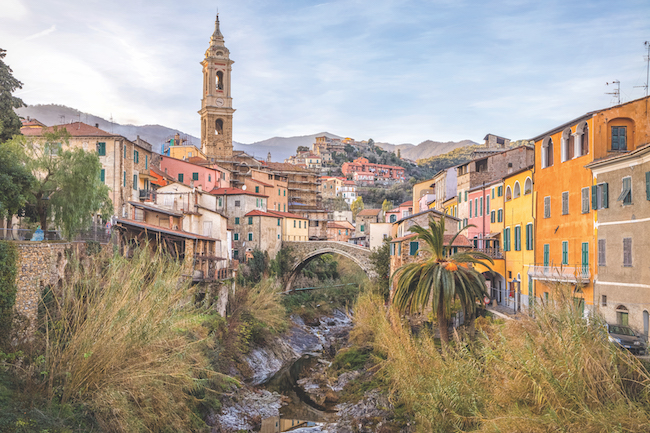 Dolcedo in Ligurian Alps, Italy