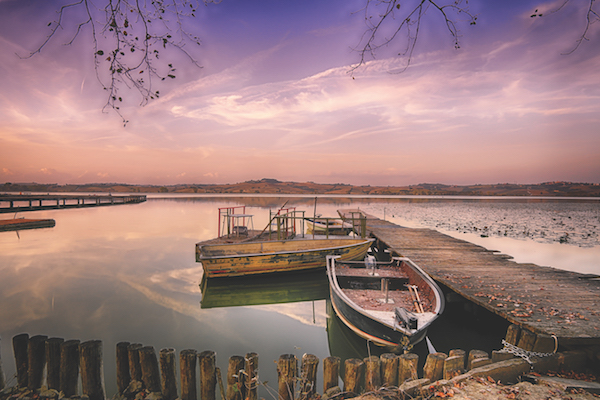Chiusi Lake in Tuscany