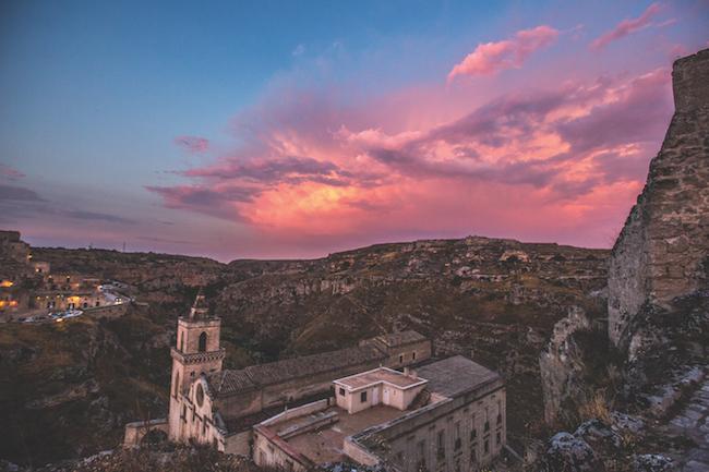 Matera Basilicata at dusk
